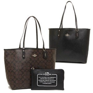 Coach Tote in Black/Brown logo