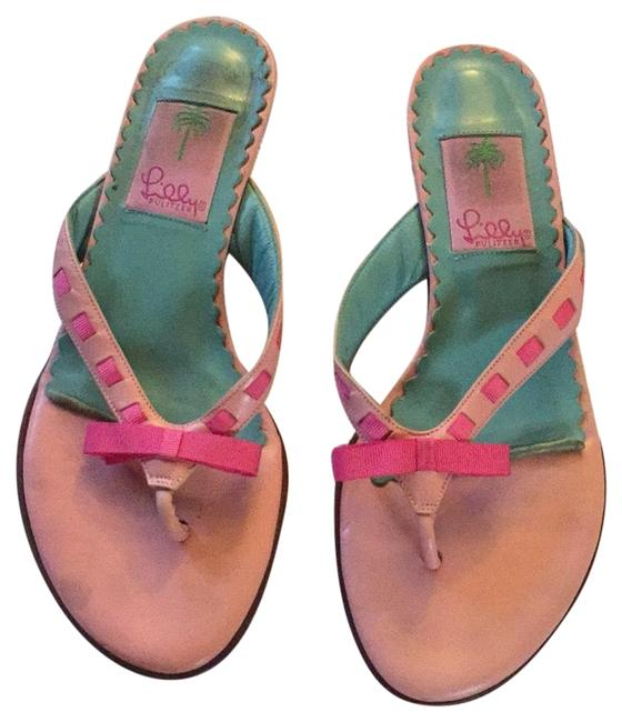 Item - Teal and Pink Sandals Size US 6.5 Regular (M, B)