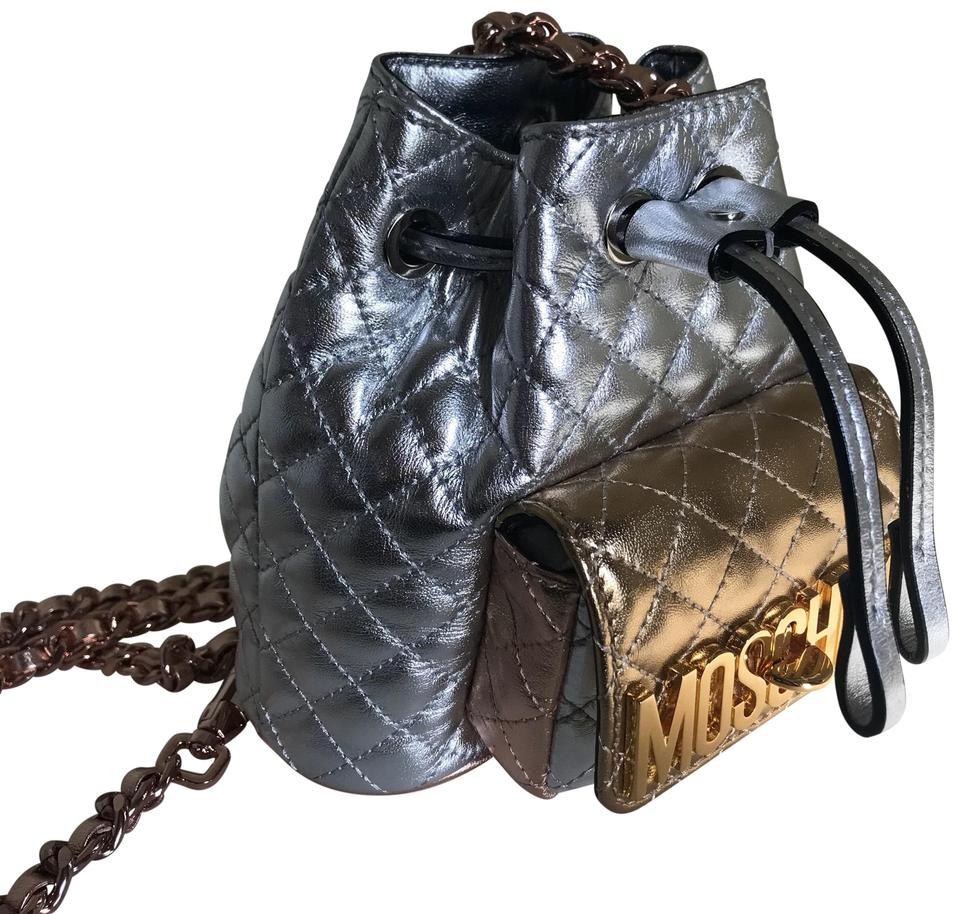 38459a05271c Moschino Quilted Metallic Mini Micro-mini Backpack Image 0 ...