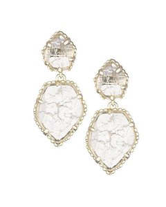 Kendra Scott Kendra Scott Quincy Drop Earrings in Clear Crackle Rare