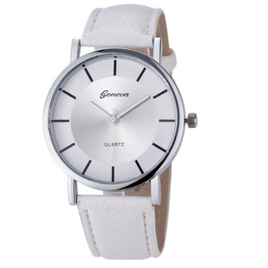 Geneva Woman's Feminine watch with Ivory & Silver Accents