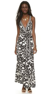 Black/White Maxi Dress by Diane von Furstenberg Dvf Wrap Maxi Samson Eden Garden Greek