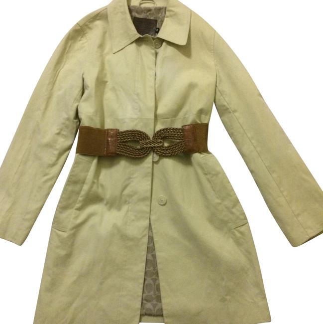 Item - Tan Classic with Leather Belt Coat Size 8 (M)