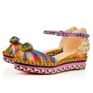 Christian Louboutin Madcarina Stiletto Platform Spike multicolor Wedges