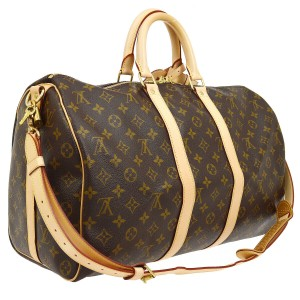 Louis Vuitton Vintage Monogram Leather European Luxury brown Travel Bag