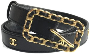 Chanel Square Buckle CC Leather