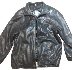 Field Gear black Leather Jacket