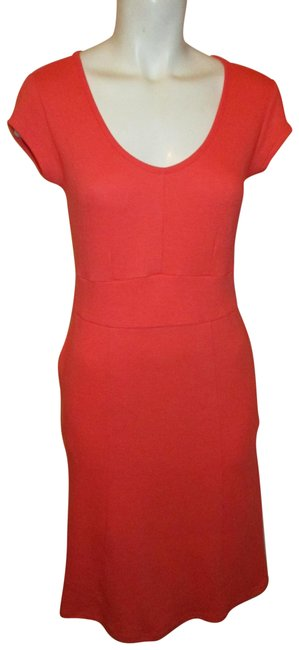 Item - Coral Cap Sleeve Knit Short Casual Dress Size 4 (S)