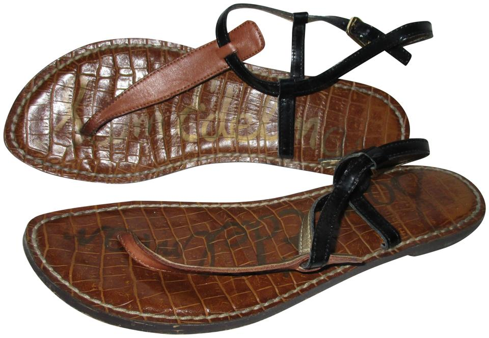 8484ae65ac65a3 Sam Edelman Brown Gigi Black T-strap Flip Flops Sandals. Size  US 7.5 ...