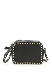 Valentino Leather Camera Rockstud Cross Body Bag