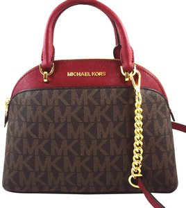 Michael Kors Satchel in Brown/Cherry
