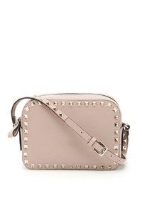 Valentino Beaded Studded Camera Rockstud Poudre Cross Body Bag