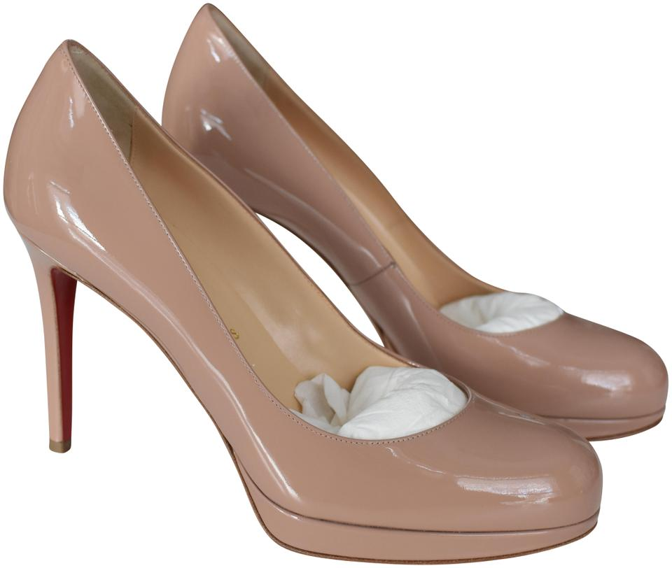 9d8a72b03cb5 Christian Louboutin Nude New Simple Pump 100 Patent Calf Platforms ...