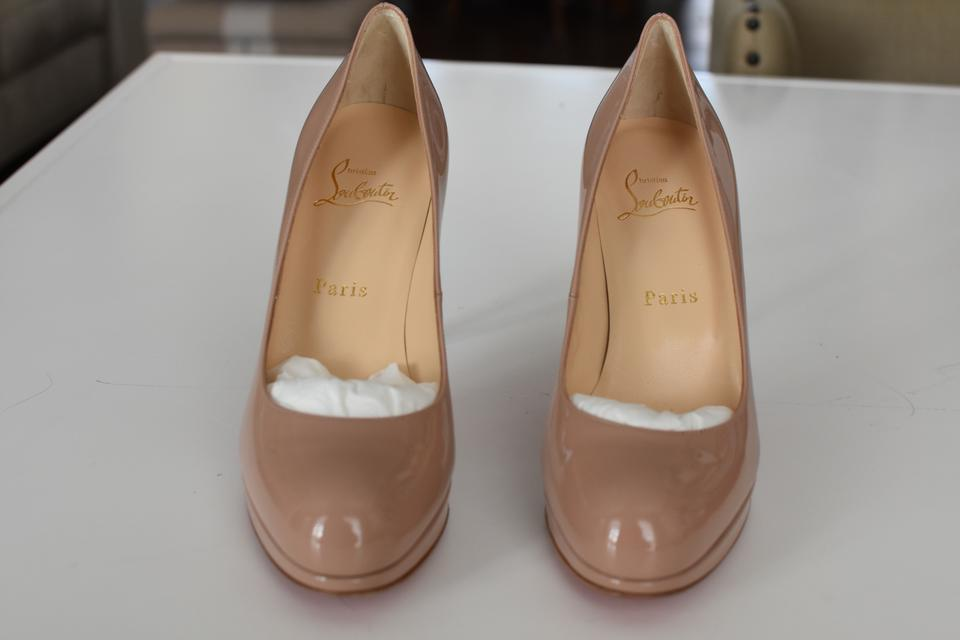 sale retailer 0ceff bfad6 Christian Louboutin Nude New Simple Pump 100 Patent Calf Platforms Size EU  37.5 (Approx. US 7.5) Regular (M, B)