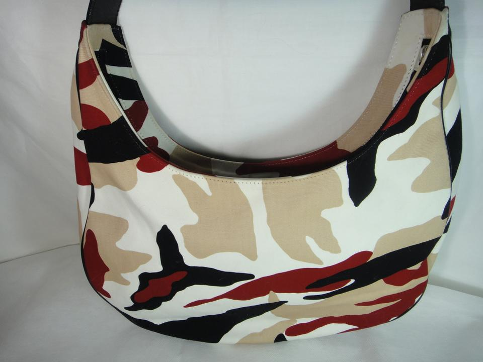 1ebc57ffb0de Burberry Rare Vintage Camo Medium Shoulder Handb Multicolor Camouflage  Canvas Leather Hobo Bag - Tradesy