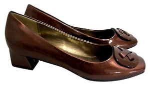 Hush Puppies Patent Brown Pumps