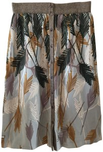 Edme & Esyllte Palm Leaves Woven Trim Relaxed Skirt Tropical