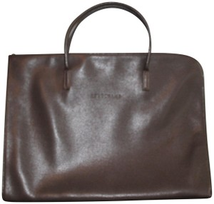 Longchamp Leather Leather Travel Workbag Laptop Bag fb63fa56637d7