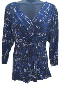 Apt. 9 Abstract Wrap Stretch Spring Plus Size Top Multicolored