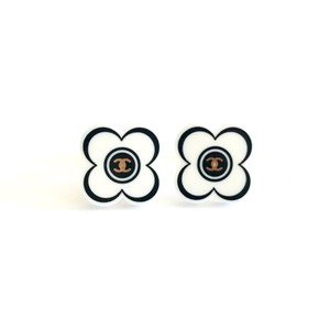 Chanel Camellia Flower CC Clip On