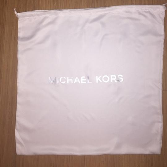 Michael Kors Convertible North South Shoulder Satchel Light Tote in Pearl Grey Silver