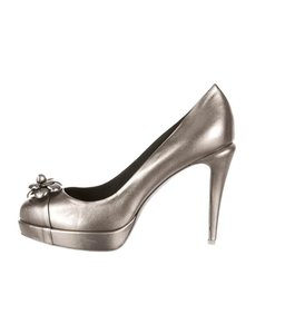 CHANEL Earring Dress Bag Top Silver Pumps