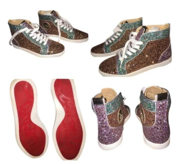 Item - Multi Glitter Bip Bip Woman Orlato Flat Glitter/Sp/Rub Cmas Sneakers Size EU 39.5 (Approx. US 9.5) Narrow (Aa, N)