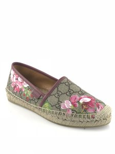 Gucci Pink GG Blooms Flats