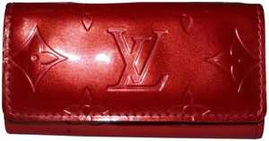 Louis Vuitton Louis Vuitton Red Vernis Leather Key Holder