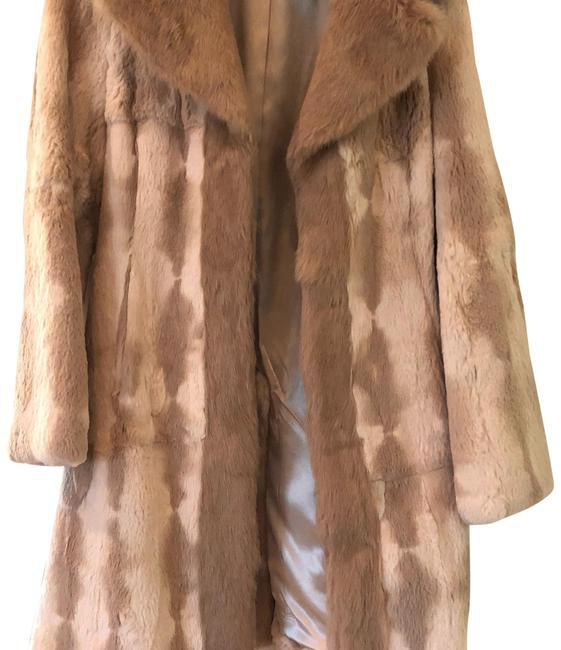 Item - Beige Dark and Light Mixed Coat Size 4 (S)