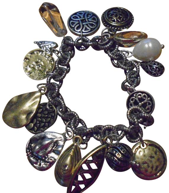Item - Silver/Gold With Charms Bracelet