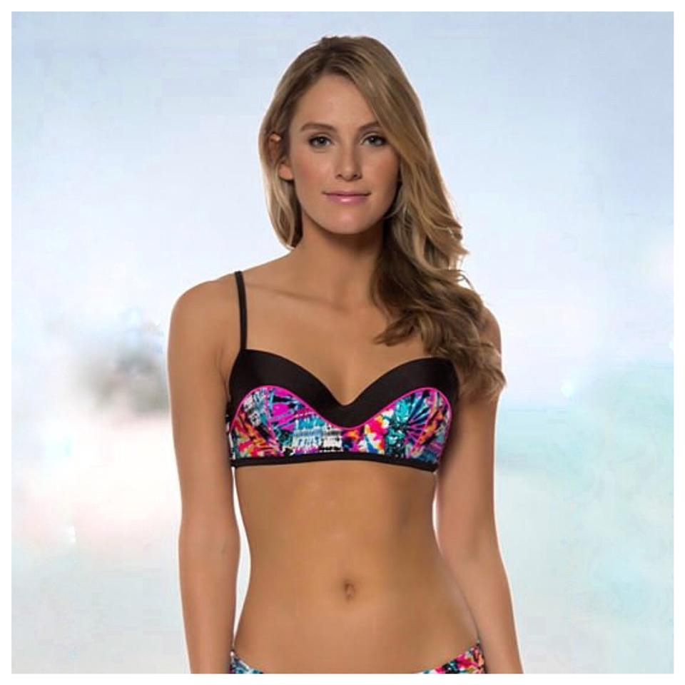 Jessica Simpson Bikini Set New Fireworks Top And Black Bottoms Image 0 ...