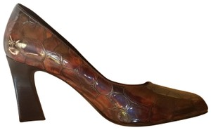 Donald J. Pliner Brown Embossed Pumps