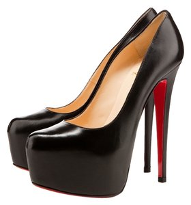 Christian Louboutin Leather Daffodile Black Pumps