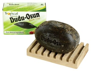 Essentials Boutique Three bars Dudu-Osun African Black Soap - natural ingredients and herb
