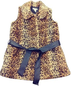 WD New York Animal Print Faux Fur Vest