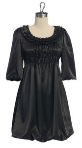 Anthropologie Bubble Satin Night Out Date Night Dress