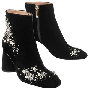 Zara Jeweled Embroidered Rhinestones Studded Bejeweled black Boots