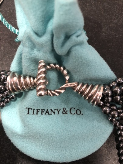 Tiffany & Co. Tiffany & Co. Multi-Strand Onyx Sterling Toggle Clasp Bead Necklace Image 2
