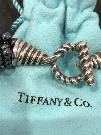Tiffany & Co. Tiffany & Co. Multi-Strand Onyx Sterling Toggle Clasp Bead Necklace Image 4