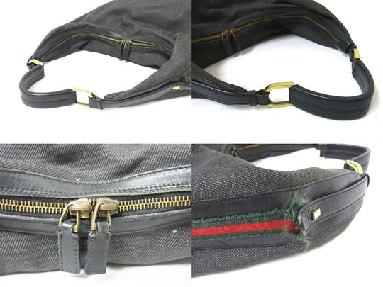 Gucci High-end Bohemian Rare Style Shelly Sides Excellent Vintage Xl Shoulder Hobo Bag Image 7