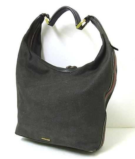Gucci High-end Bohemian Rare Style Shelly Sides Excellent Vintage Xl Shoulder Hobo Bag Image 9