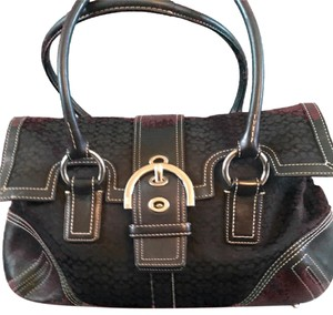 Coach Satchel in Coach Monogram Black