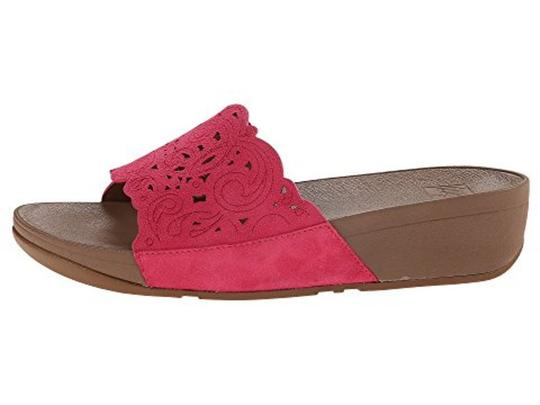 FitFlop Slide Raspberry Sandals Image 1