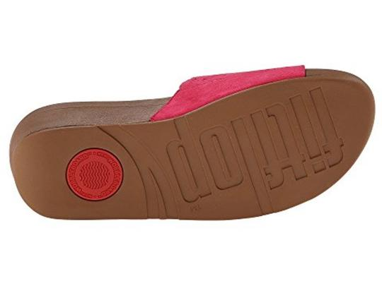 FitFlop Slide Raspberry Sandals Image 2