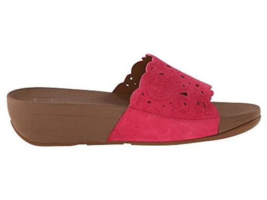 FitFlop Slide Raspberry Sandals Image 4