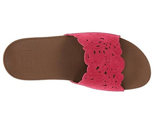 FitFlop Slide Raspberry Sandals Image 5