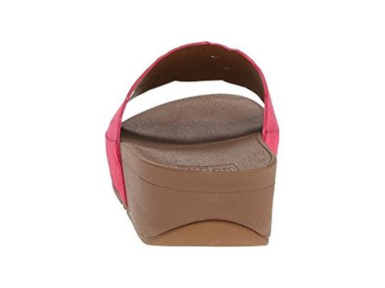 FitFlop Slide Raspberry Sandals Image 6