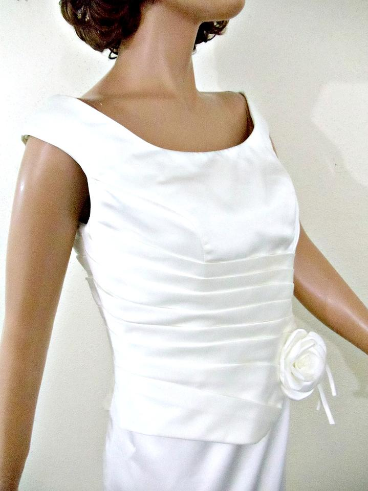 dd59ccb6fa Ivory Polyester Debra Woods Personal Clothing Modest Wedding Dress. Street  Size: OS ...
