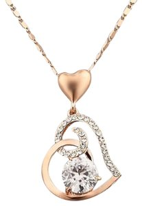Queenesthershop Women's Rose Valentines Day Necklace